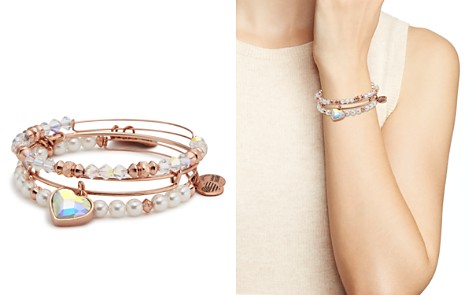 Alex and Ani Crystal Heart Expandable Bangle Bracelets - 100% Exclusive - Bloomingdale's_2