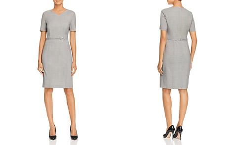 BOSS Davilla Houndstooth Sheath Dress - Bloomingdale's_2