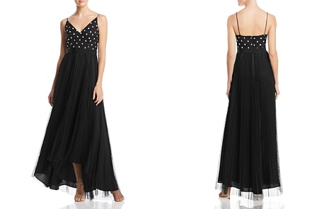 Adrianna Papell Dotted-Bodice Layered-Look Gown - Bloomingdale's_2
