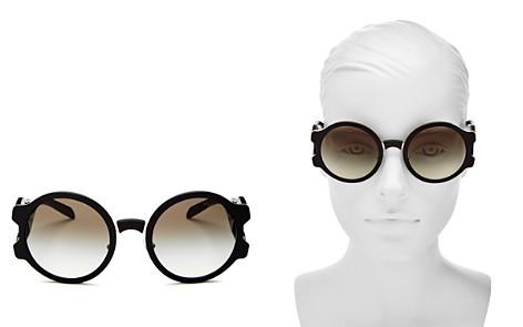 Prada Women's Round Sunglasses, 53mm - Bloomingdale's_2