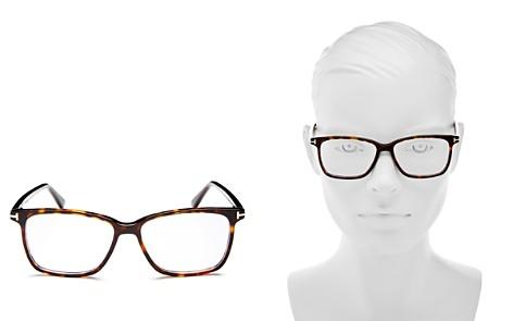 Tom Ford Square Blue Blocker Glasses, 55mm - Bloomingdale's_2