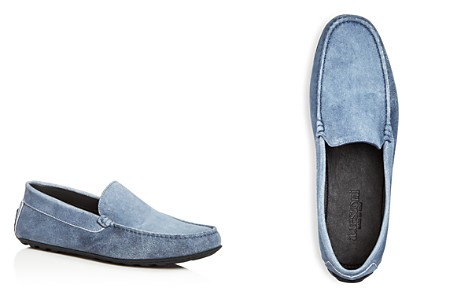 A.Testoni Men's Suede Moc Toe Drivers - Bloomingdale's_2