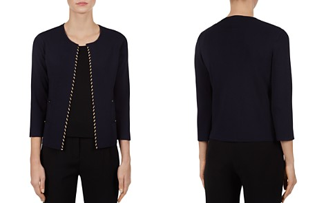 Gerard Darel Ferdi Open-Front Metallic Detail Cardigan - Bloomingdale's_2