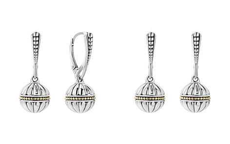 LAGOS 18K Gold & Sterling Silver Caviar Talisman Beaded Drop Earrings - Bloomingdale's_2