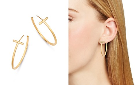 Bloomingdale's 14K Yellow Gold T-Hoop Earrings - 100% Exclusive _2