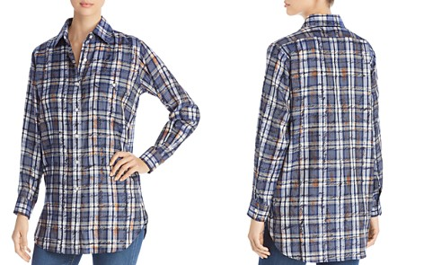 Burberry Chava Scribble Check Silk Blouse - Bloomingdale's_2