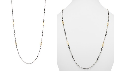 """Armenta 18K Yellow Gold & Blackened Sterling Silver Old World Crivelli Moonstone Beaded Necklace, 36"""" - Bloomingdale's_2"""