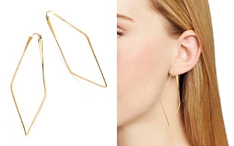 Moon & Meadow Hammered Geometric Hoop Earrings in 14K Yellow Gold - 100% Exclusive - Bloomingdale's_2