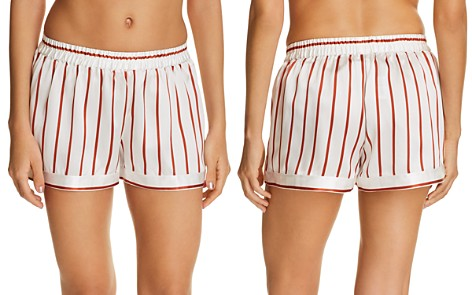 GINIA Striped Silk Shorts - Bloomingdale's_2