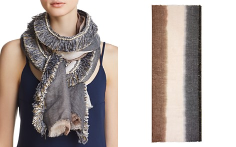 Gaynor Color-Block Fringed Oblong Scarf - 100% Exclusive - Bloomingdale's_2