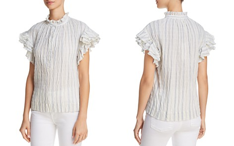 Rebecca Taylor Textured Ruffle Top - Bloomingdale's_2