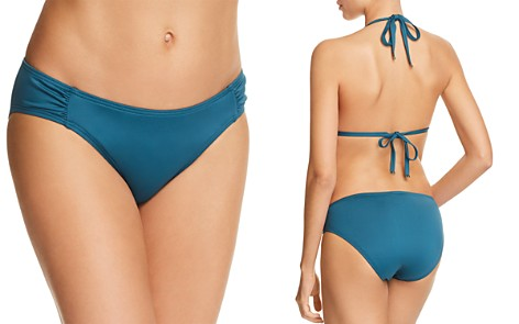 kate spade new york Crescent Bay Shirred Bikini Bottom - Bloomingdale's_2