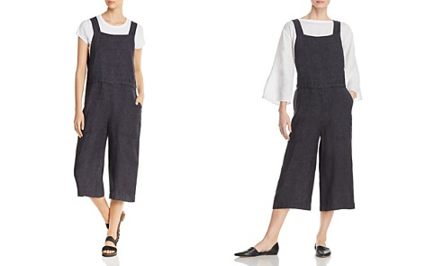 Eileen Fisher Organic Linen Cropped Jumpsuit - Bloomingdale's_2