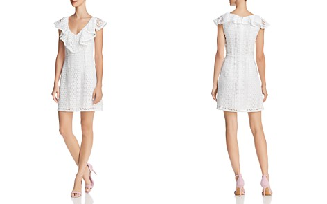 FRENCH CONNECTION Massey Ruffled Lace Dress - Bloomingdale's_2