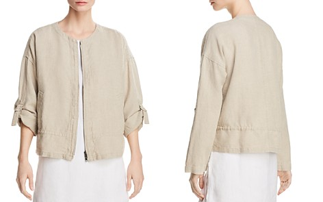 Eileen Fisher Organic Linen Zip Front Jacket - Bloomingdale's_2