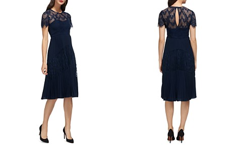 Whistles Bianca Pleated Lace Dress - Bloomingdale's_2