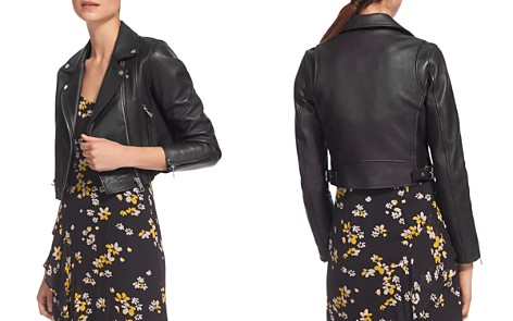 Whistles Rose Cropped Leather Jacket - Bloomingdale's_2