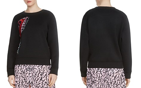 Maje Theophile Butterfly Embroidered Sweatshirt - Bloomingdale's_2