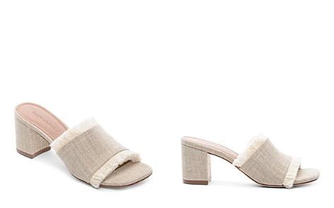 Bernardo Women's Blaire Frayed Block Heel Slide Sandals - Bloomingdale's_2