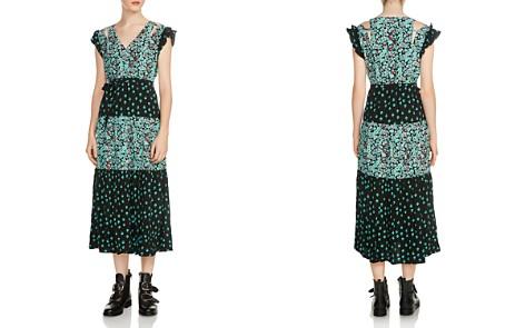 Maje Renoli Mixed Floral-Print Midi Dress - Bloomingdale's_2