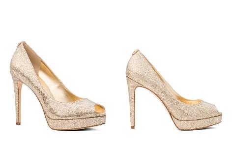 MICHAEL Michael Kors Women's Erika Glitter Platform Peep Toe Pumps - Bloomingdale's_2