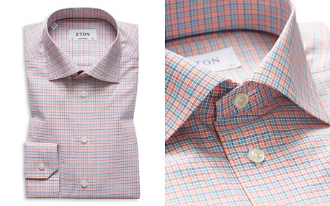Eton Contemporary Multi Check Regular Fit Dress Shirt - Bloomingdale's_2