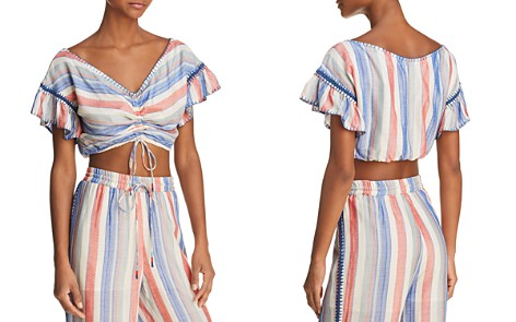 Red Carter Cosette Striped Cropped Top - Bloomingdale's_2