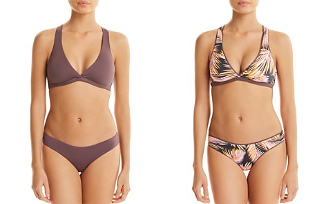 Maaji Fig Swirl Reversible Fixed Halter Bikini Top & Sublime Reversible Hipster Bikini Bottom - Bloomingdale's_2
