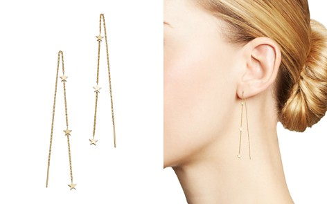 Zoë Chicco 14K Yellow Gold Itty Bitty Stars Threader Earrings - Bloomingdale's_2