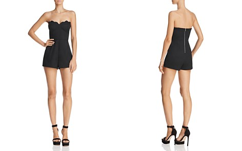 Sunset + Spring Scalloped Strapless Romper - 100% Exclusive - Bloomingdale's_2