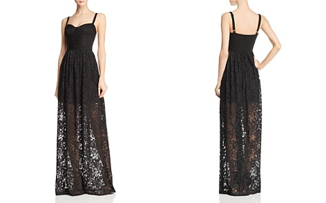 Black Halo Joliette Illusion Lace Gown - Bloomingdale's_2