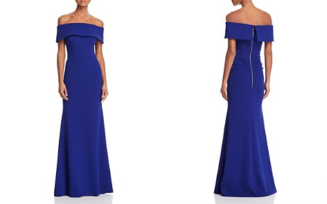 AQUA Off-the-Shoulder Scuba Crepe Gown - 100% Exclusive - Bloomingdale's_2