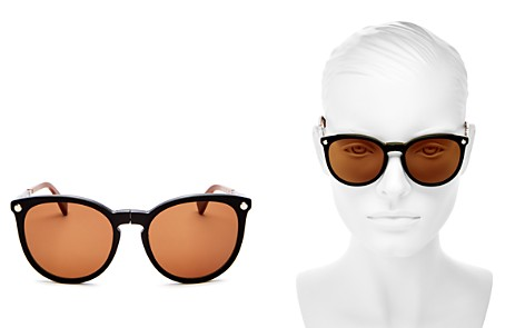 Longchamp Le Pliage Family Foldable Round Sunglasses, 54mm - Bloomingdale's_2