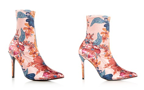 JAGGAR Women's Compact Floral Print Stretch Satin Sock Booties - Bloomingdale's_2