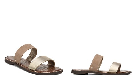 Sam Edelman Women's Gala Leather & Suede Slide Sandals - Bloomingdale's_2