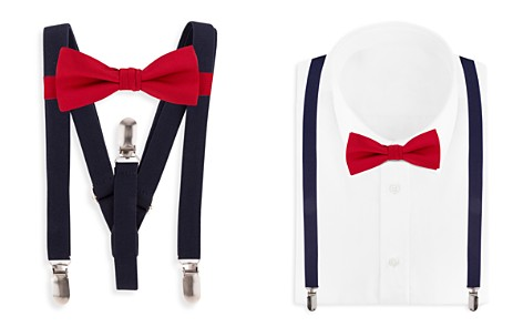 Bloomingdale's Boys Boys' Contrast Bow Tie & Suspenders Set - 100% Exclusive_2
