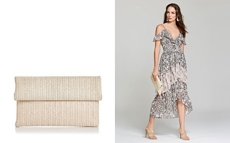 Street Level Straw Foldover Clutch - Bloomingdale's_2