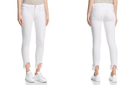 Hudson Mid Rise Skinny Crop Jeans in Destroyed - Bloomingdale's_2