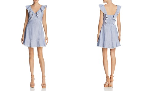 Lucy Paris Hillary Ruffled Striped Dress - Bloomingdale's_2