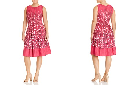 NIC and ZOE Plus Tango Twirl Leaf-Embroidered Dress - Bloomingdale's_2