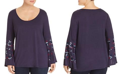 Love Scarlett Plus Embroidered Bell-Sleeve Top - Bloomingdale's_2