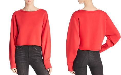rag & bone/JEAN Crop Sweatshirt - Bloomingdale's_2