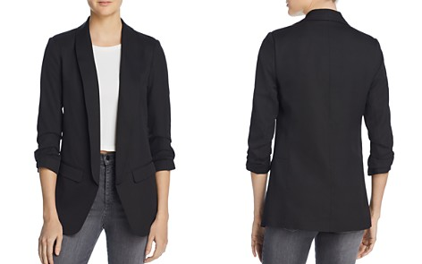 AQUA Ruched Sleeve Blazer - 100% Exclusive - Bloomingdale's_2
