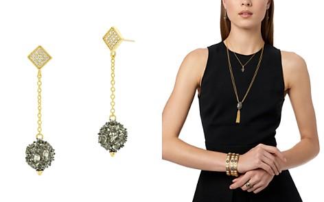 Freida Rothman Rose d'Or Pavé Cluster Ball Drop Earrings - Bloomingdale's_2
