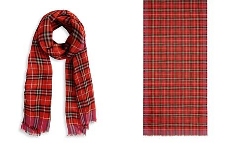 Burberry Check Wool & Silk Scarf - Bloomingdale's_2