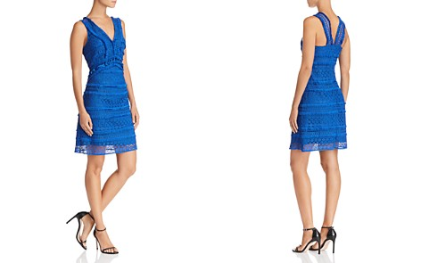 Sam Edelman Sleeveless Tassel-Trim Lace Dress - Bloomingdale's_2