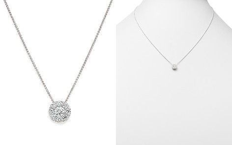 Bloomingdale's Diamond Halo Pendant Necklace in 14K White Gold, 0.50 ct. t.w. - 1005 Exclusive _2