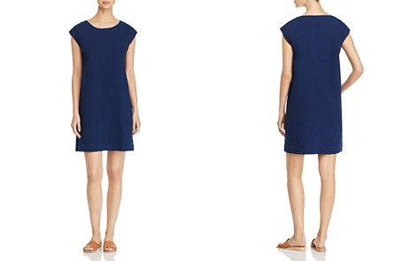 Eileen Fisher Boat Neck Shift Dress - 100% Exclusive - Bloomingdale's_2