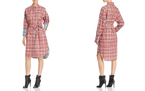Burberry Belted Plaid Shirt Dress - Bloomingdale's_2