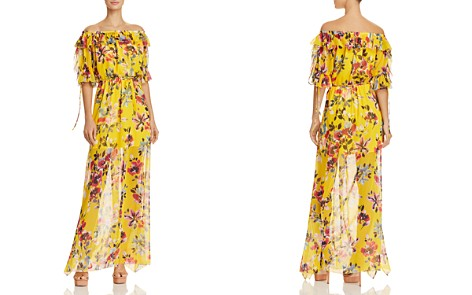 FRENCH CONNECTION Linosa Off-the-Shoulder Floral-Print Maxi Dress - Bloomingdale's_2